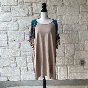 Umgee Patchwork Dress / Size Large